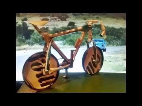 Bicicletas en latas de aluminio recicladas - YouTube