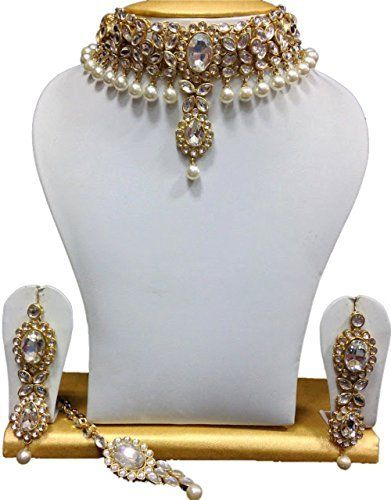 Exclusive Bollywood Gold Plated Party Wear Indian Special Rakhi gift For Sister Kundan Necklace Set Exclusive Jewellery, http://www.amazon.com/dp/B06XXBSSG5/ref=cm_sw_r_pi_dp_x_VQVCzbGY45F97