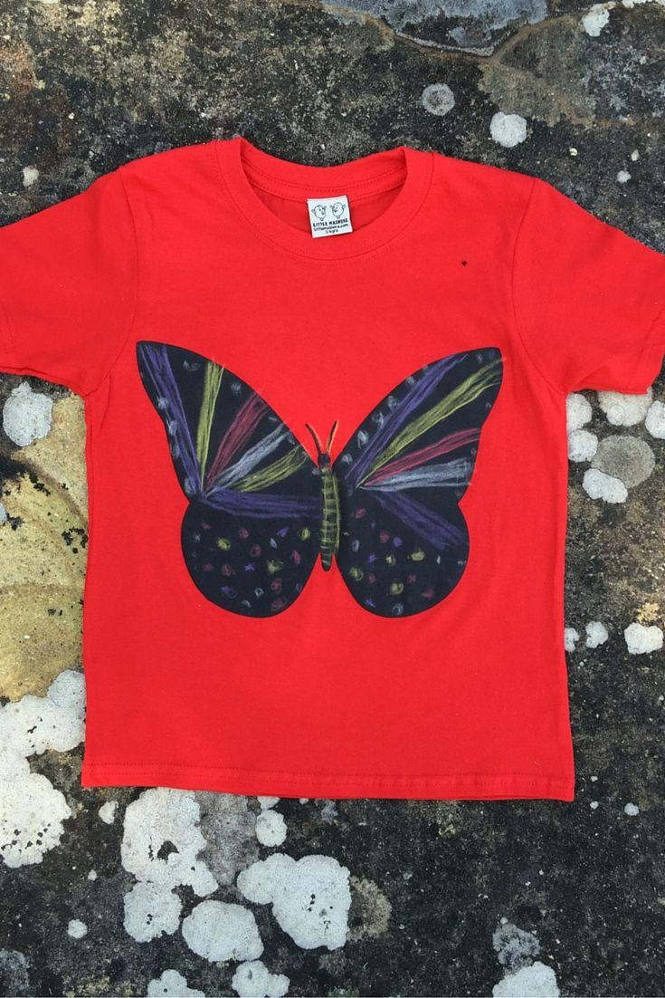 Ella (age 6) loves butterflies and we love the beautiful patterns she has drawn on her chalkboard tee. Good job Ella! www.adventurelane.com.au