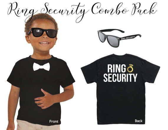 Wedding Ring Bearer Ring Security Sunglasses & T-Shirt Combo