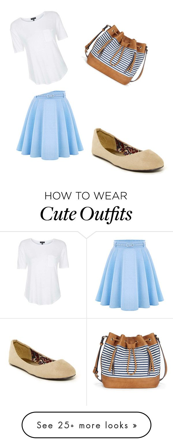 """""""Cute summer outfit"""" by mamalikesfashion on Polyvore featuring WithChic, Charles Albert, Sole Society, Topshop, women's clothing, women's fashion, women, female, woman and misses"""