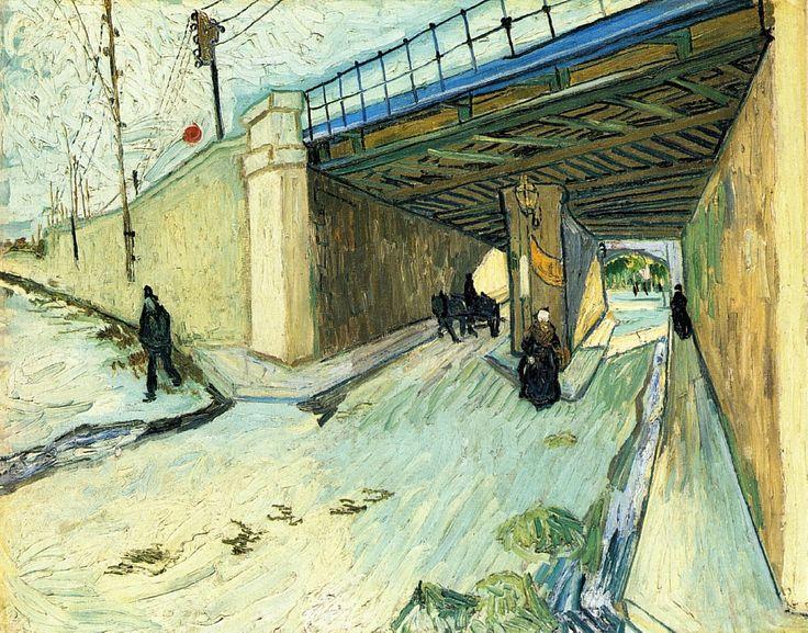 Vincent van Gogh — The Railway Bridge over Avenue Montmajour, 1888,...