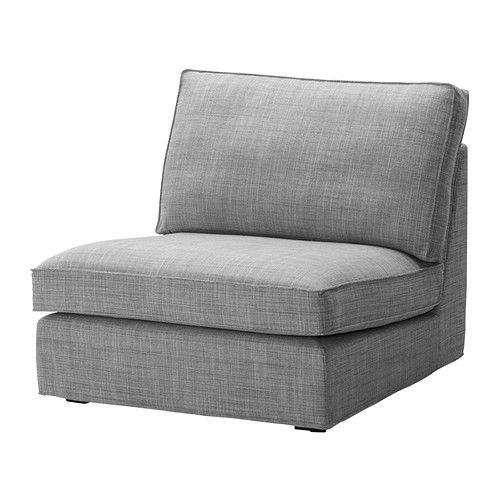 KIVIK Fodera per elemento a 1 posto - Isunda grigio - IKEA