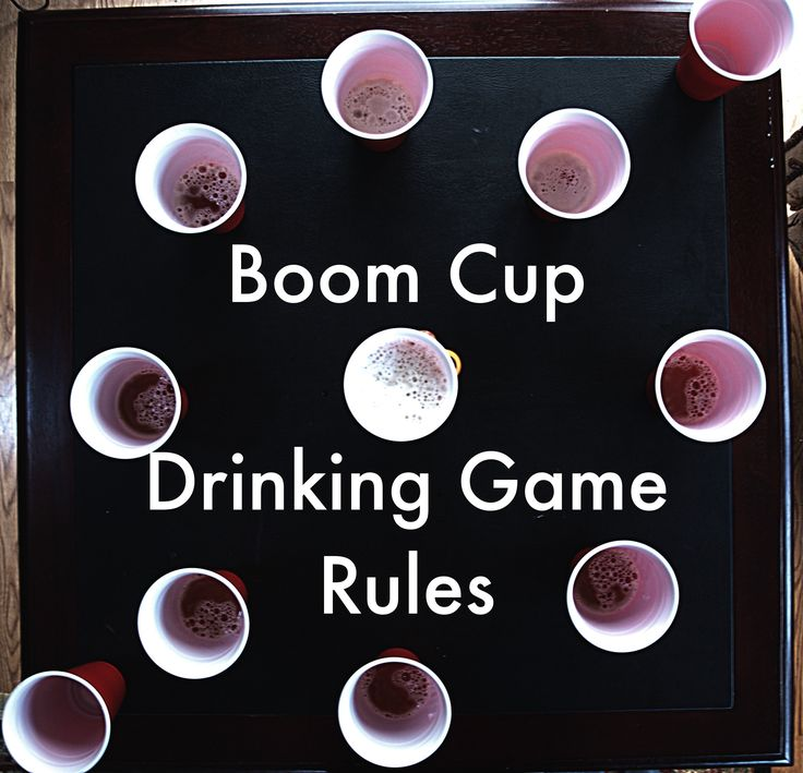 Boom Cup Drinking Game Rules