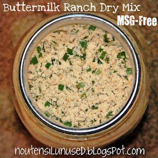 Buttermilk Ranch Dry Mix - MSG-Free Recipe | No Utensil Unused