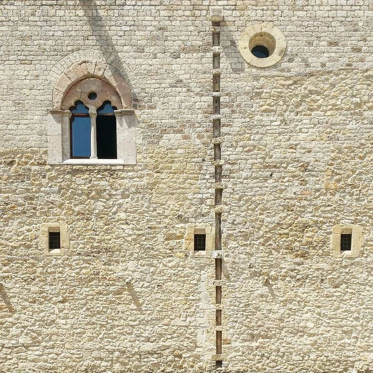 #dashed #line - #lagopesole #castle #built for #frederick II #holy #roman #emperor [[[ #facade #project ]]] {{{ #italy #basilicata #military #architecture }}}