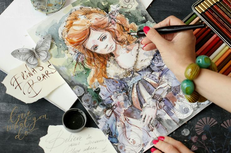 Watercolor by Elina`s Art on 500px