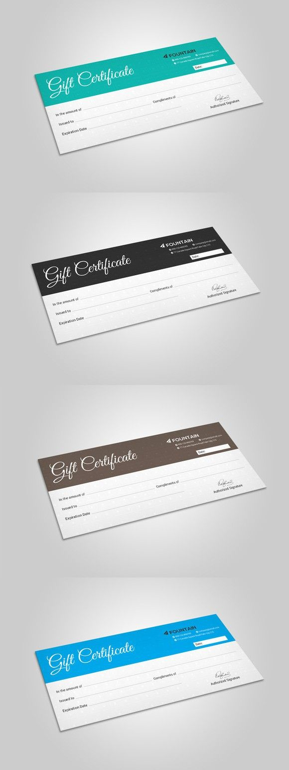 Gift Certificate. Stationery Templates. $6.00