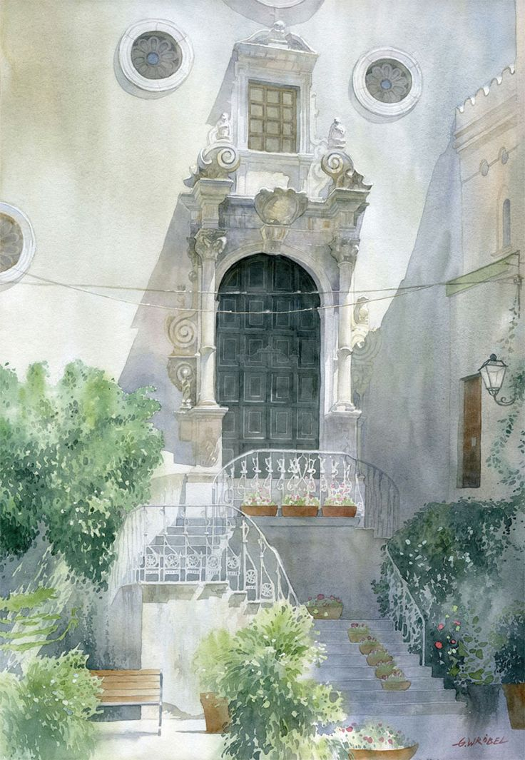 Gli acquarelli urbani di Grzegorz Wrobel #watercolor #illustration