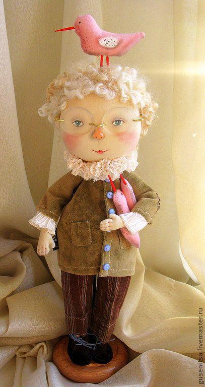 Коллекционные куклы ручной работы. Король розовых чаек.. Анастасия Побережец. Интернет-магазин Ярмарка Мастеров. Мальчик, хлопок американский