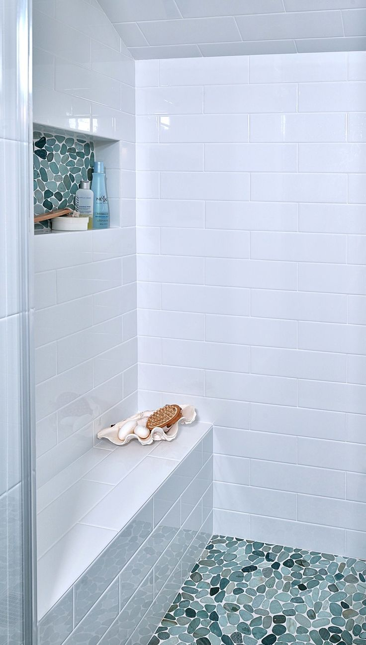SEE THE FULL REMODEL: Before & After: This Upstairs Bathroom Gets A Fresh Update| Photographer: Miro Dvorscak
