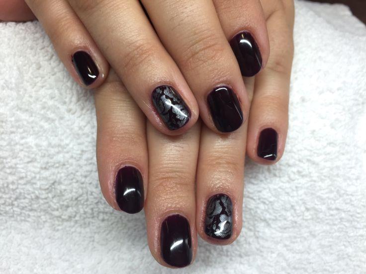 Shellac nails stamping