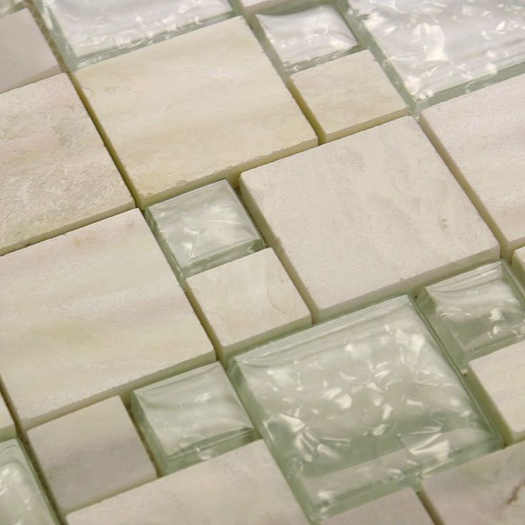 Stone Glass Tile Mirror Square Wall Tile Backsplash Discount Bathroom  Shower Design Art Crystal Mosaic Deco