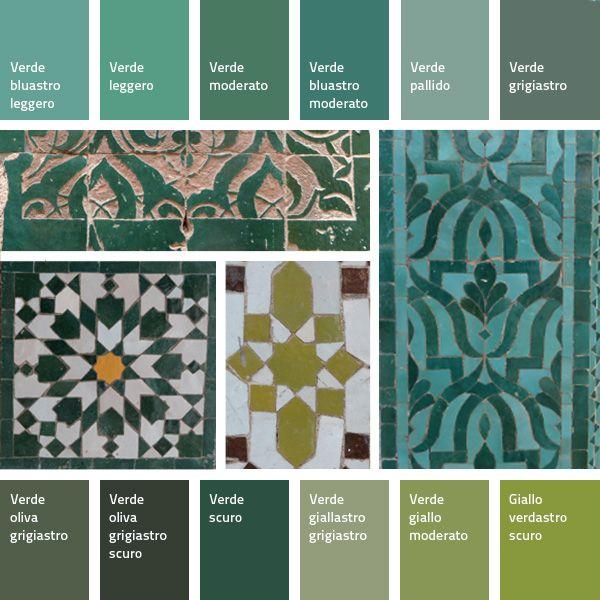 [lang_it]Un'altra palette di colori dal Marocco: i verdi.    Il verde è il colore dell'Islam, lo