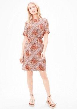Krepové šaty s celoplošným vzorem, s.Oliver #avendro #avendrocz #avendro_cz #fashion #soliver