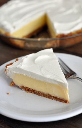 Lemon Cream Pie Gonna have to try this. I'll choose lemon over just about anything.