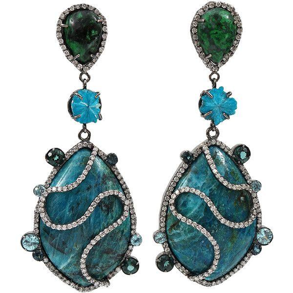 Colette Jewelry Opal Drop Earrings ($12,150) ❤ liked on Polyvore featuring jewelry, earrings, accessories, 18 karat gold jewelry, 18k earrings, opal earrings, 18 karat gold earrings e 18k jewelry