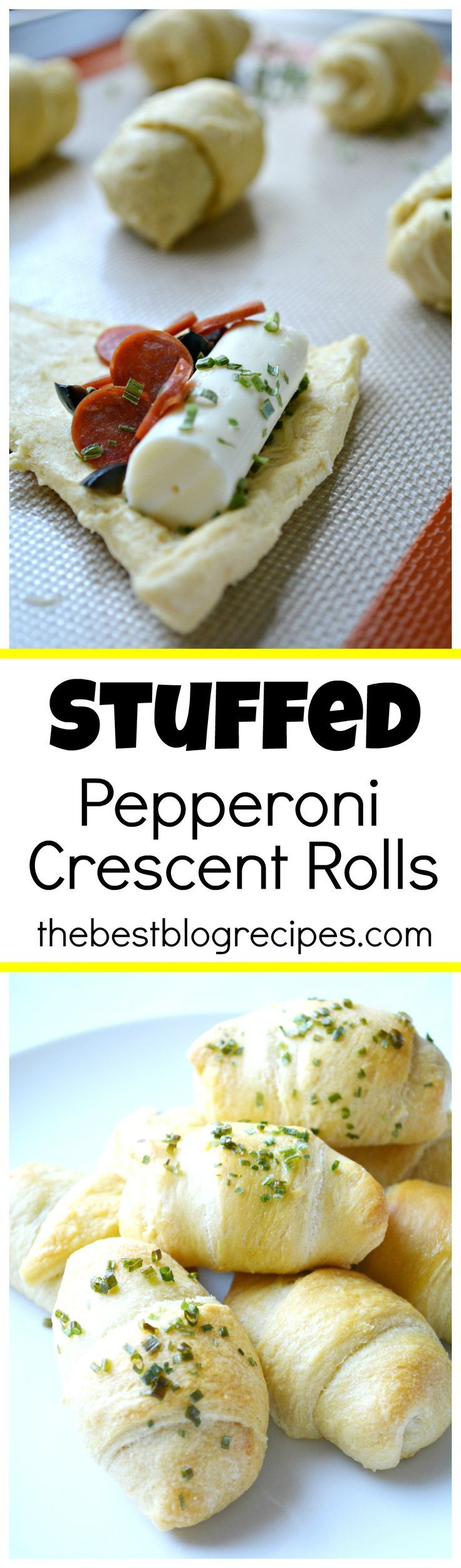 Stuffed Pepperoni Pizza Crescent Rolls are so easy to make, there is minimal clean up and your family will love them!