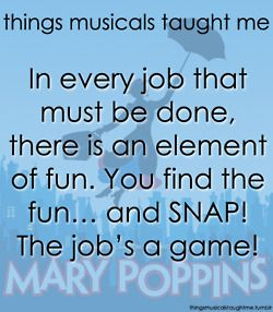 Things musicals taught me (Mary Poppins)