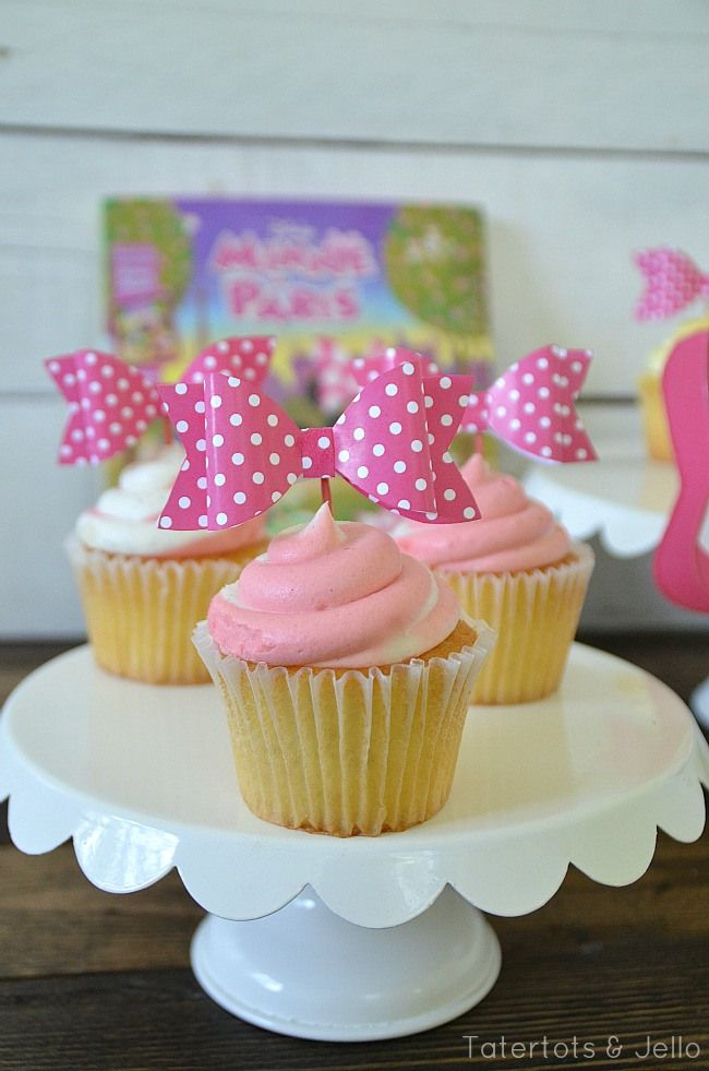 3-D Printable Bows & Cupcake Toppers