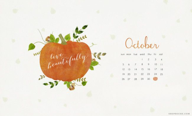 October 2014 Desktop Calendar / Ruche Blog Kalender