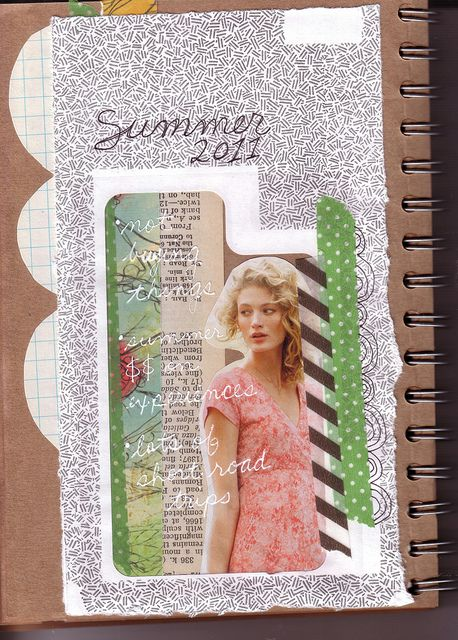 Love the use of junk mail, the combination of washi tape & the sentiment! From Elizabeth: http://www.flickr.com/photos/libookperson/with/5862371384/