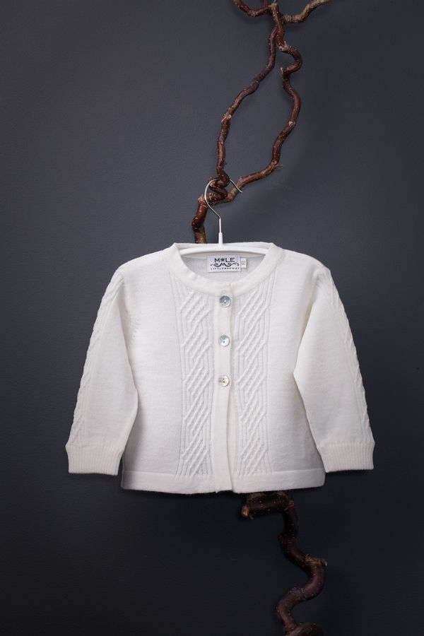 Saga baby cardigan in softest italian merino wool by Mole Little Norway ♥