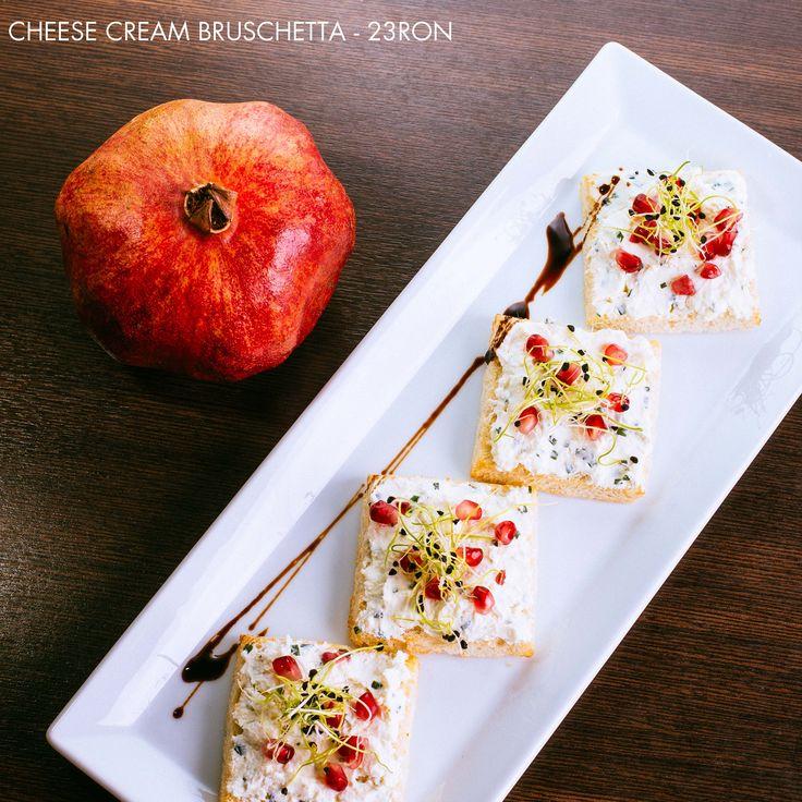 Goat cheese bruschetta & pomegranate