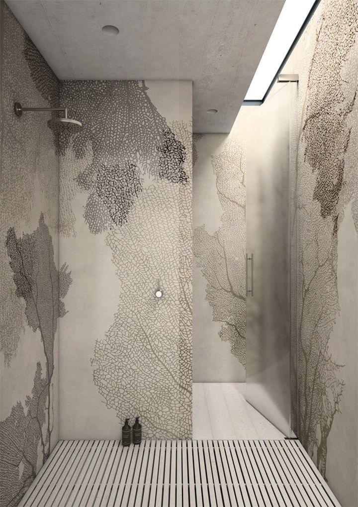 60 best breathless bathing images on pinterest bathroom for Bathroom wallpaper wall coverings