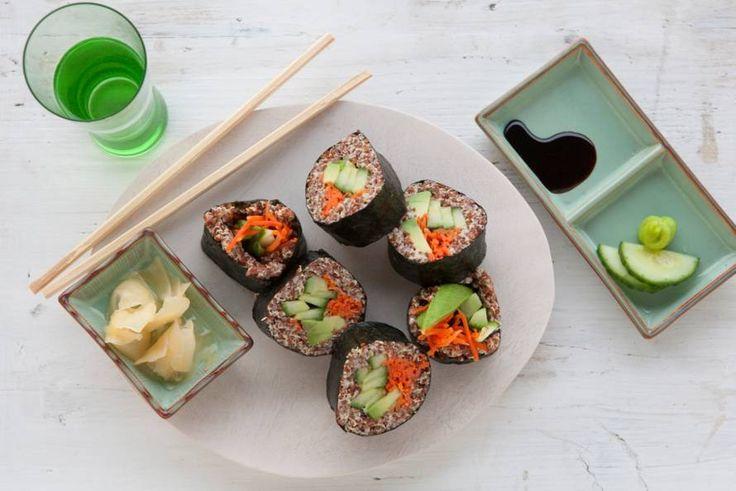 Verrassend, de rijst is vervangen door quinoa met wasabimayonaise - Recept - Allerhande