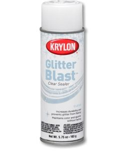 Glitter Blast™ Clear Sealer - | Krylon- For use on wine glasses