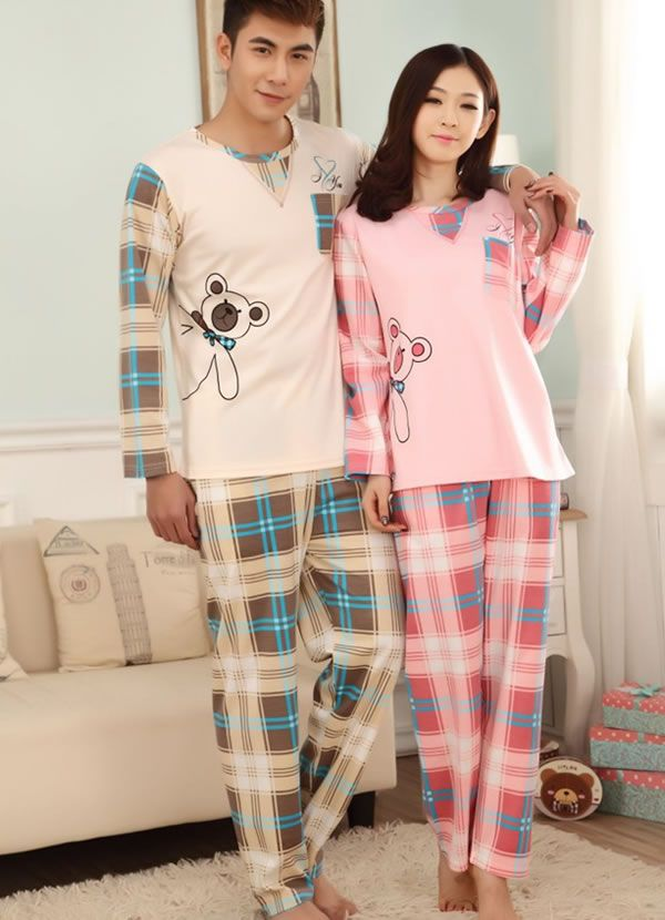 Cotton Couple Winter Pajama Set, different styles for choice