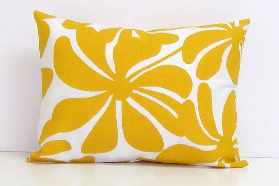 OUTDOOR PILLOW Sale.12x16 or 12x18 Inch.Pillow Covers.Printed Fabric Front and Back.GOLDEN yellow Flower.Floral.Gold Cushion Cover.Cm on Etsy, $13.00