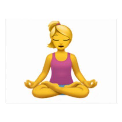 Woman in Lotus Position - Emoji Postcard - postcard post card postcards unique diy cyo customize personalize