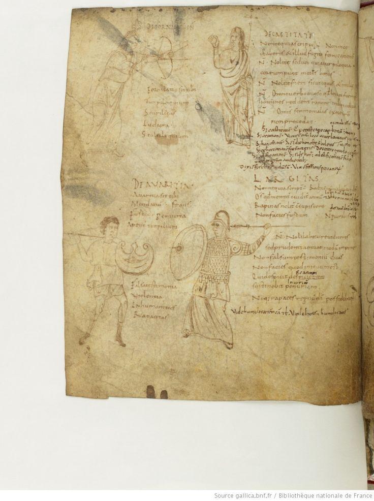 BnF ms. lat. 8318, Recueil factice composé de 4 manuscrits ou fragments de manuscrits différents: I. Arator Subdiaconus, Historia apostolica (f. 3-48). — II. Aurelius Clementis Prudentius, Psychomachia (f. 49-64). — III. Venantius Fortunatus, Carmina (f. 65-71). — IV. Aldhelmus, Carmina ecclesiastica (f. 73-80). -- 800-900 , fol.53v