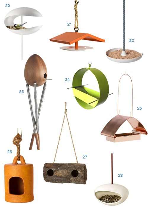 Get the Look: 28 Modern Bird Houses and Bird Feeders