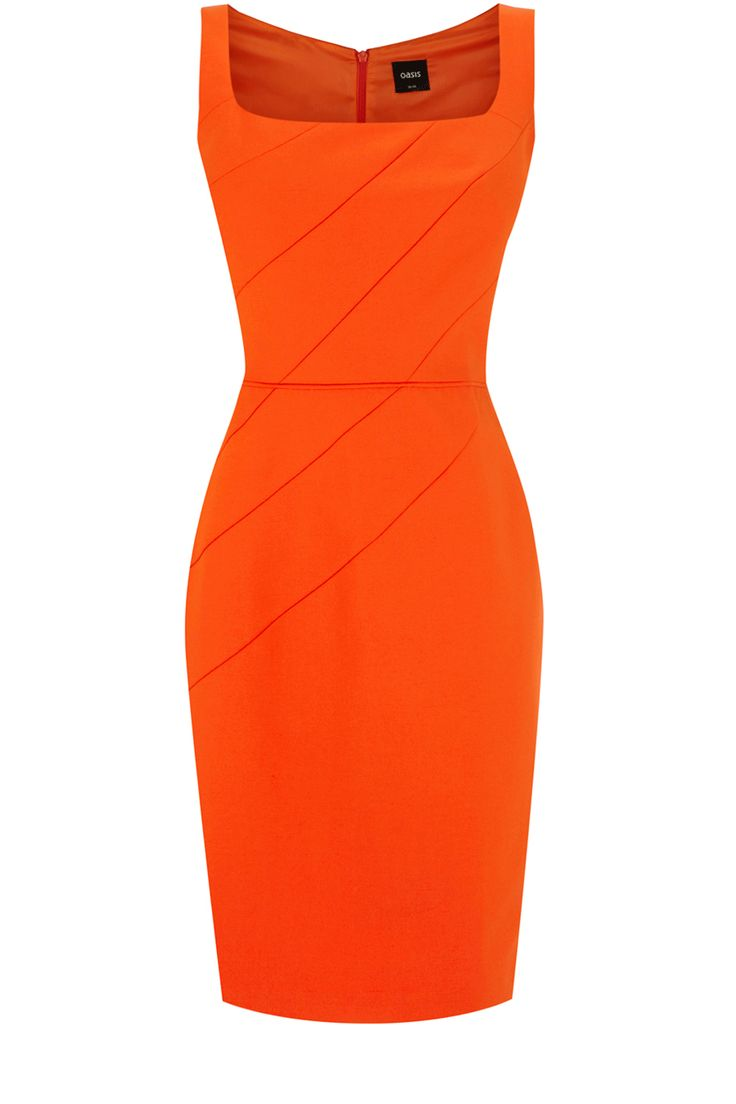 Oasis All Dresses | Mid Orange Rose Petal Shift Dress | Womens Fashion Clothing | Oasis Stores UK #orange #dress #fashion