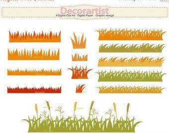 EN venta otoño imágenes prediseñadas hierba hierba frontera gráfico, tarjeta que hace, otoño imágenes prediseñadas frontera, instante descargar