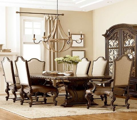Castle 8 Piece Dining Room Set From Huffman Koos