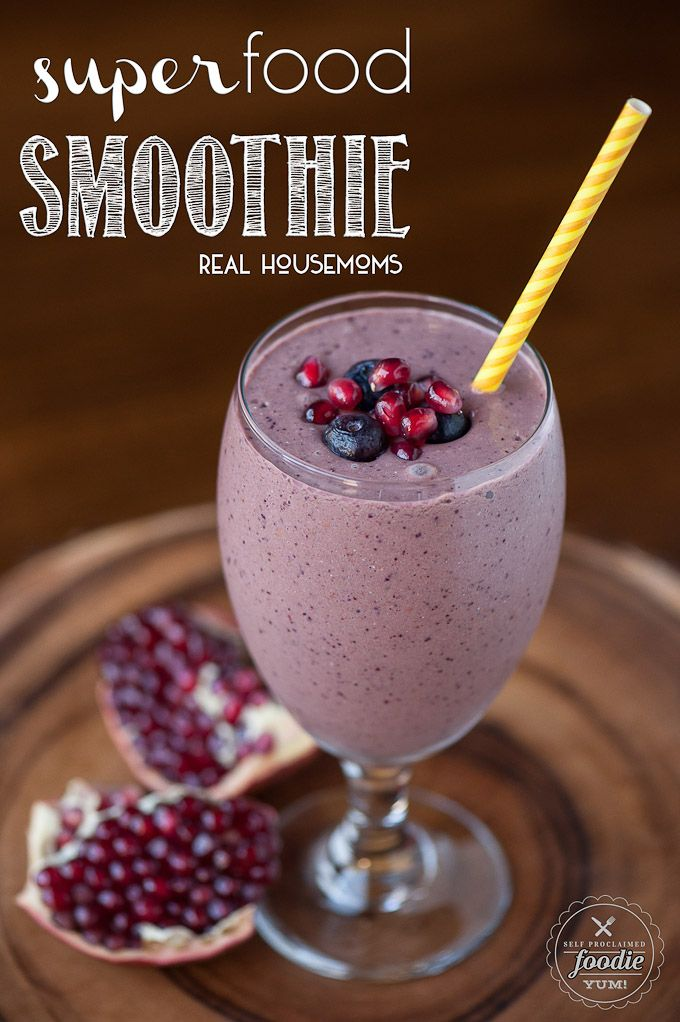 This Super Food Smoothie is not only packed full of vitamin & energy rich super foods, but it is tastes really good & provides a healthy start to your day!