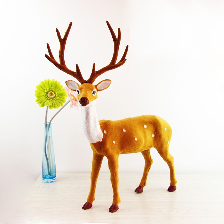 Simulation deer  polyethylene&furs deer  model funny gift about 43cmx57cm //Price: $US $58.86 & FREE Shipping //     #toys