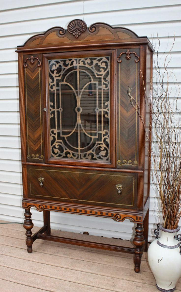 Refurbished Vintage 1920 S China Cabinet Furniture And