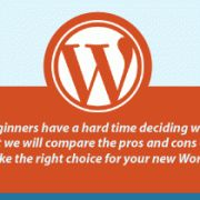 Self Hosted WordPress.org vs. Free WordPress.com [Infograph] and link to wpbeginner.com which contains lots of info for newbies