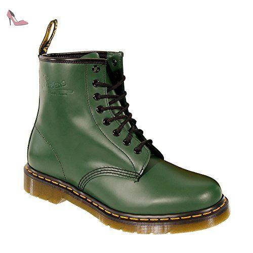 Dr Martens 1460 8 Hole Smooth Boots (Vert) - 37 - Chaussures dr martens (*Partner-Link)