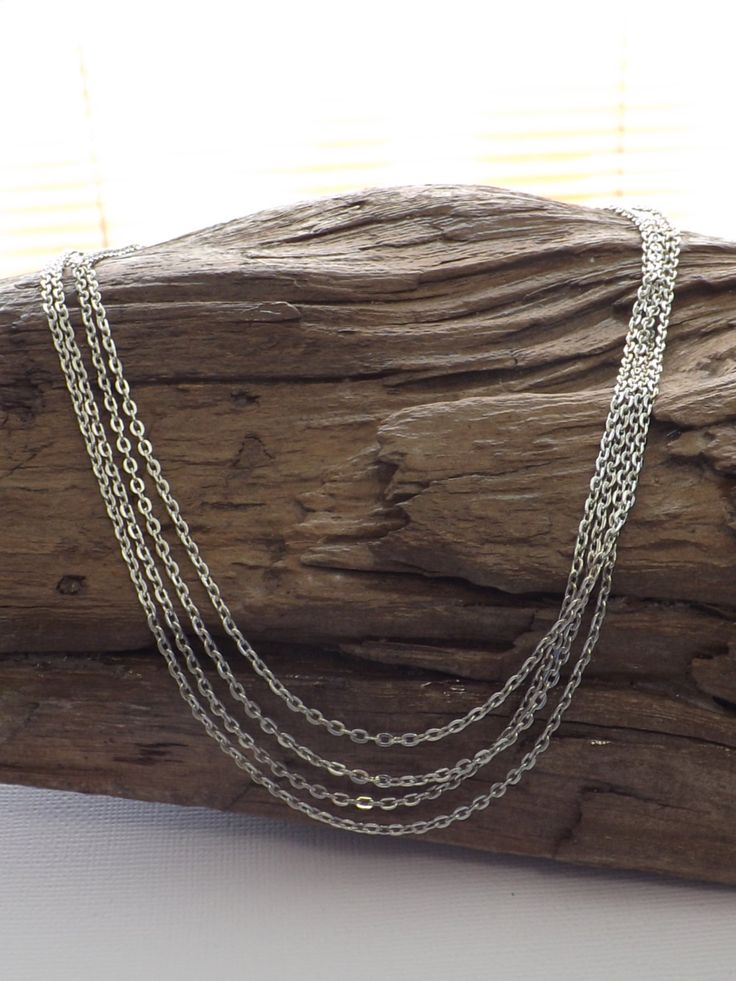 Ladies 4 strand 4 length cable chain necklace by ATenderMomentGifts on Etsy