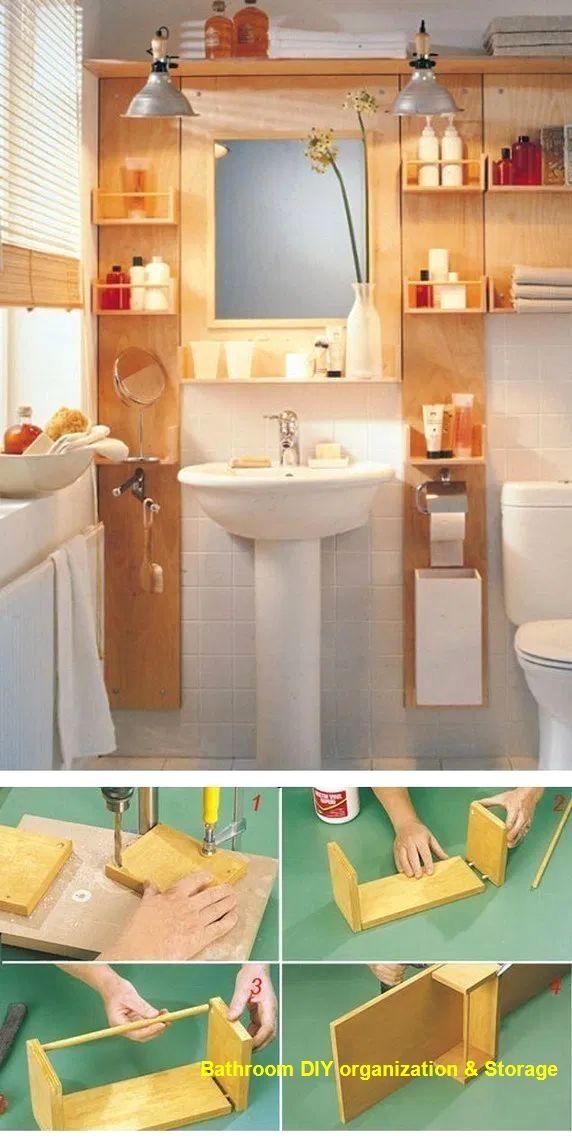 13 Creative Bathroom Organization And Diy Solutions In 2020 Small Bathroom Styles Bathrooms Remodel Space Saving Bathroom