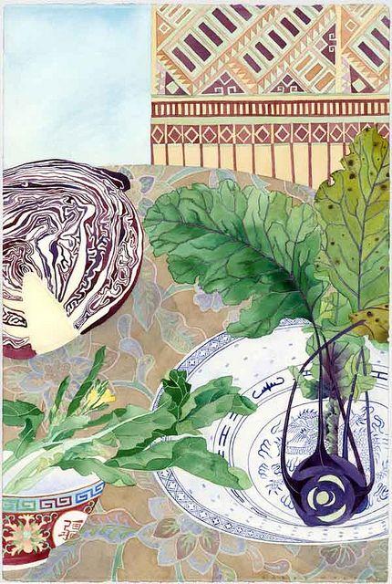 winter vegetables and ceramics GABBY MALPAS