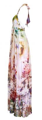 Abendkleid Young Couture Maxikleid mit Blumendruck blumen -   bei dresscoded.com