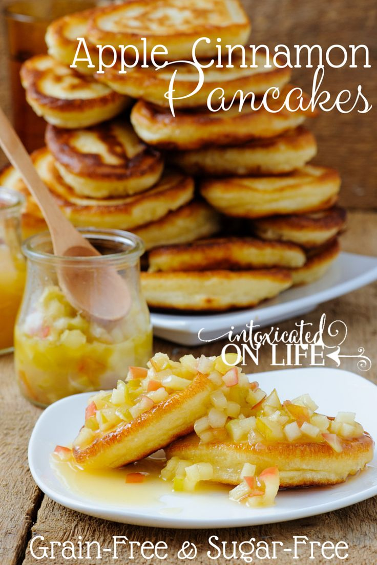 Awesome Gluten-Free, Sugar-Free Apple Cinnamon Pancakes