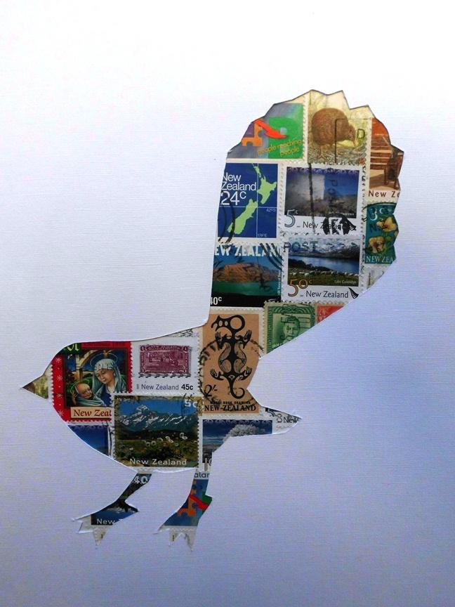 Fantail stamp art